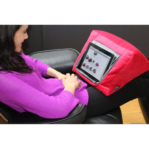 MobileToyz iPad Cushion Pillow Stand Holder (RED) for iPad and other Tablet devices. Use around the home, in bed or on the desk. Avoid iPad RSI and...