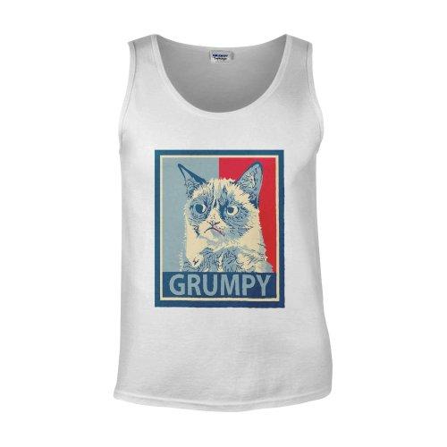 Grumpy Cat Funny Cute Kitty White Men Vest Tank Top