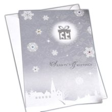 Christmas Cards Greeting Cards Christmas Gift Xmas Cards (4 Cards and Envelopes), Silver # 10