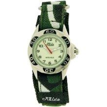 Relda Kids Nite-Glo Quartz Luminous Dial Army Green Velcro Boys Watch REL64