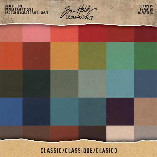 "Idea-Ology Single-Sided Kraft Cardstock Pad 8""X8"" 36/Pkg-Classic, 36 Colors/1 Each"