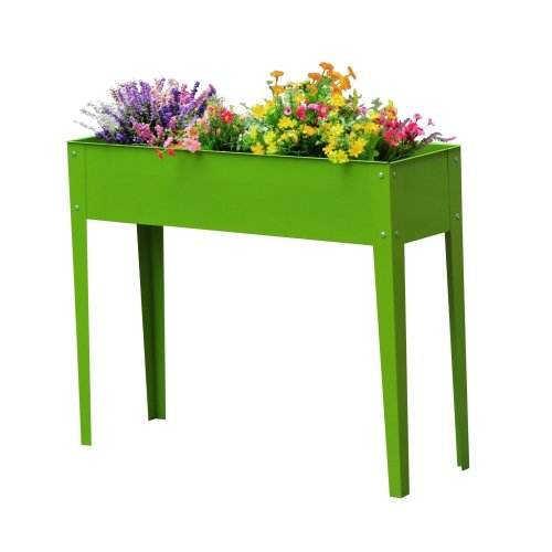 Outsunny Flower Raised Bed Vegetable Planter Freestanding