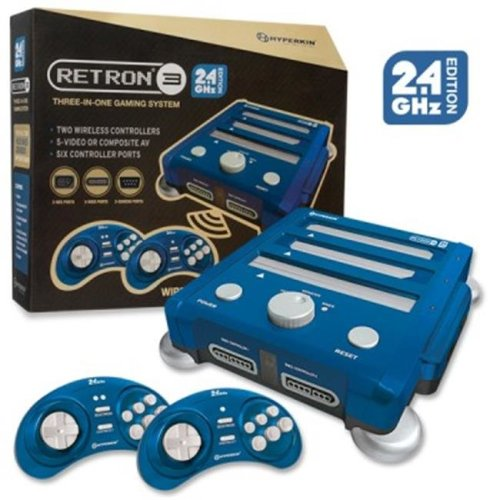 Hyperkin M07168-BB RetroN3 3 in 1 Console Videogame Hardware, Blue