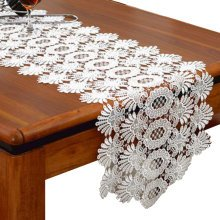 Lace Table Runner Piano Cover Cloth Wedding Table Decor-A3