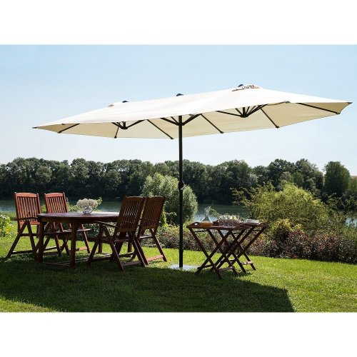 faef159faed Large Garden Parasol - Double Canopy Umbrella 460 cm - SIBILLA on OnBuy