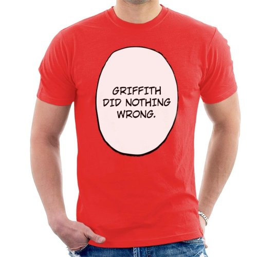 Griffith Did Nothing Wrong Berserk Men's T-Shirt