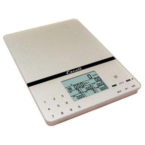 Escali 115NS Cesto Portable Nutritional Tracker - 11 Lb - 5 Kg - Silver Gray