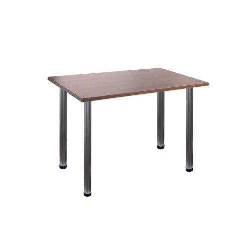 Computer Desk Office Dining Table Workstation Silver Legs Wallnut Top 120x80cm