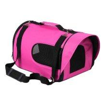 Travel Dog Carrier Bag Handbag- Rose Red
