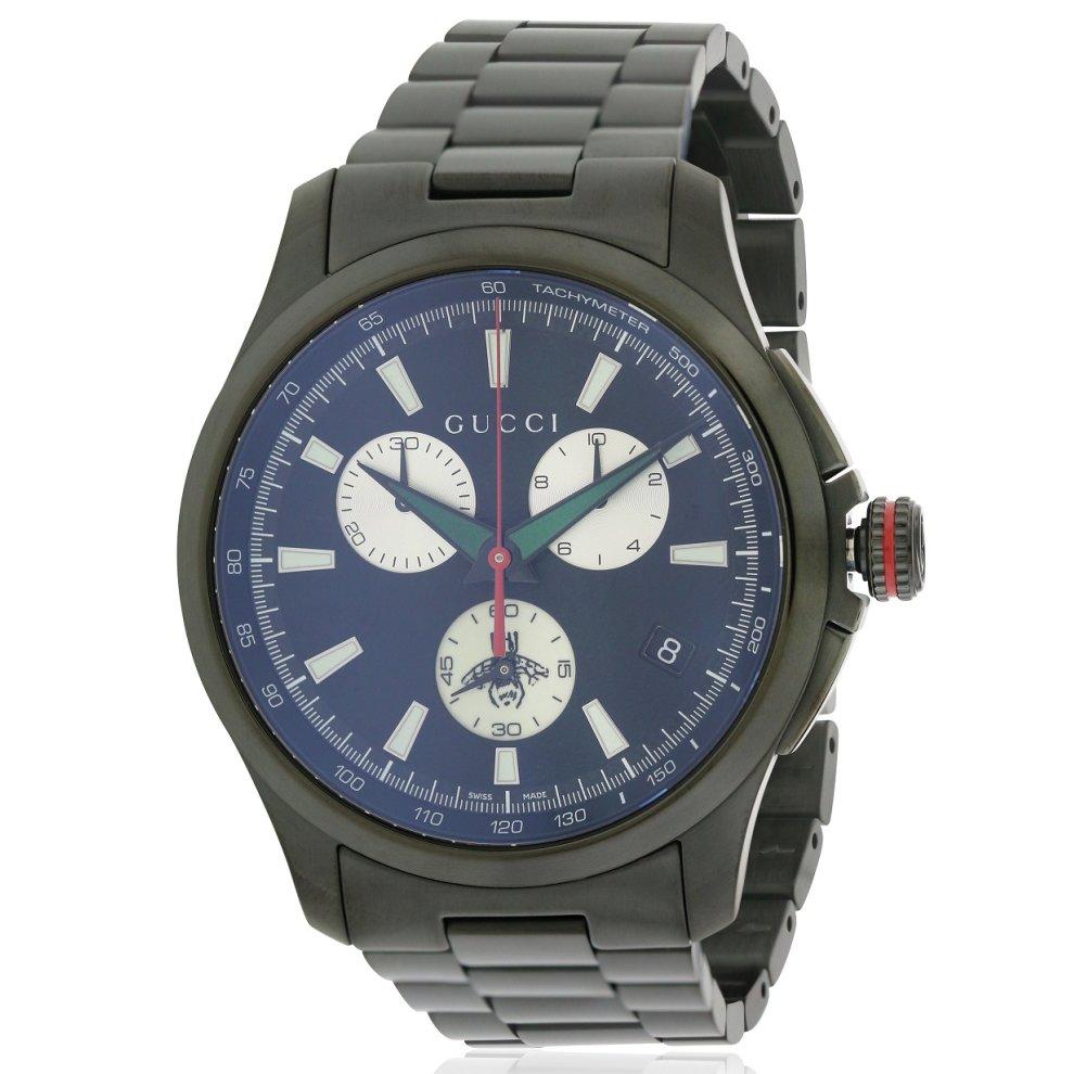 52b935ffa38 Gucci G-Timeless Black Stainless Steel Chronograph Mens Watch YA126268 on  OnBuy