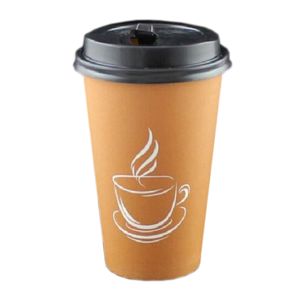 50 Count 16 oz Coffee Paper Cup Insulated Paper Coffee ...