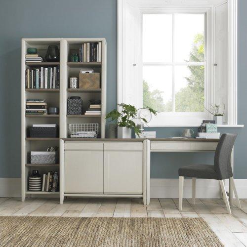 Bentley Designs Bergen Soft Grey Office Desk Package