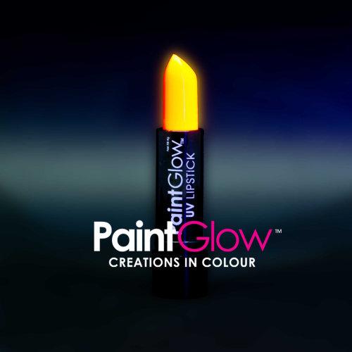 Uv Lipstick, Orange, 4g - Lipstick Neon Glow Party Make Up Paintglow -  uv lipstick neon glow party make up paintglow fluorescent orange fancy dress