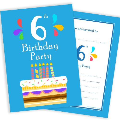 Olivia Samuel 6th Birthday Party Invitations