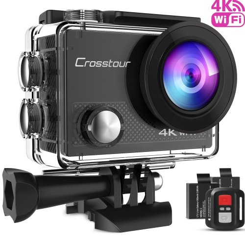 Crosstour 4K 16MP Sport Action Camera Ultra HD Camcorder WiFi Waterproof Camera 170 Degree Wide View Angle 2 Inch LCD Screen W/2.4G Remote...