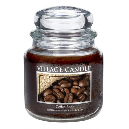Village Candle 16oz Scented American Medium Jar Candle with Double Wick Coffee Bean
