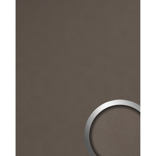 WallFace 19769 Antigrav DOVE TALE Wall panel nappa leather look matt brown 2,6m2