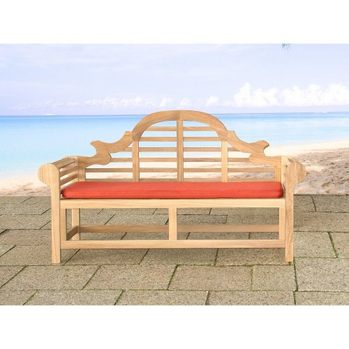 Comfortable cushion for the bench Marlboro - 152x52x5cm - terracotta