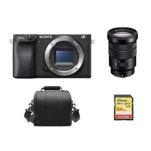 SONY A6400 Body Black + SONY SEL 18-105MM F4 G OSS + 64GB SD card+Bag