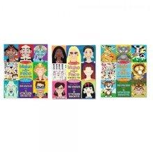 Melissa & Doug Bundle of 3, Make-a-face Sticker Collection.