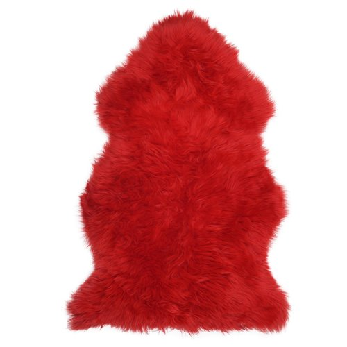 Lambland Super Soft Large Real Genuine Sheepskin Rug in Red