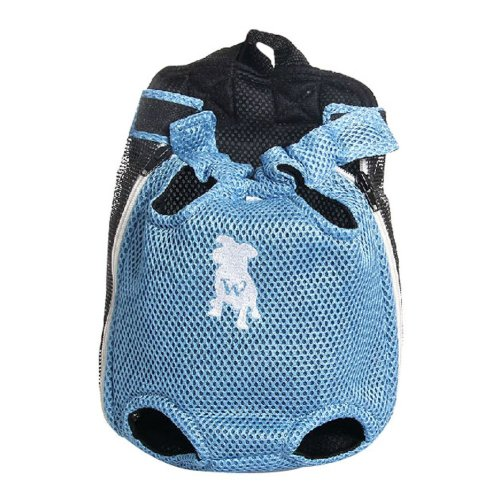 Fashion Travel Front Backpack Carrier Bag For Pets BLUE (Suitable for 3.5-5.5kg)