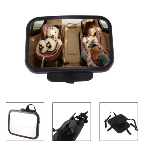 Large Wide Baby Child Car Safety Back Seat Mirror Rear View Easily Adjustable