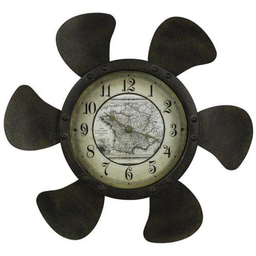 Cooper Classics 40737 17.75 x 3 x 17.75 in. Landon Clock with Under Glass, Rust