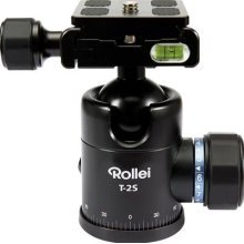 Rollei T-2S Panoramic Tripod Ball Head with max. load of up to 8 kg, Arca Swiss compatible - incl. Quick Release Plate - Black