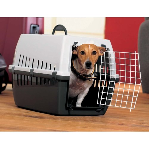 Trotter 3 Pet Carrier Airline Approved Black/grey 60.5x40.5x39cm (Pack of 3)