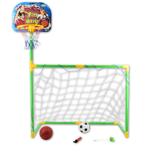 deAO Toys Basketball & Football Set | 2-in-1 Sports Playset