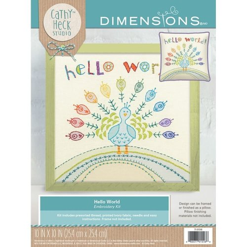 Dimensions Embroidery -Hello World