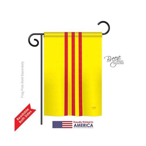 Breeze Decor 58236 South Vietnam 2-Sided Impression Garden Flag - 13 x 18.5 in.