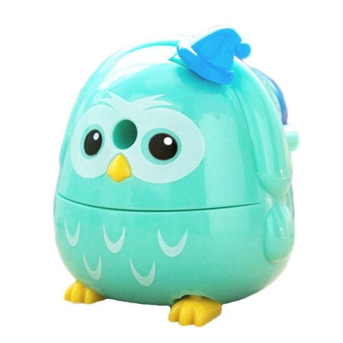Lovely Office & School Supplies Hand Rotating Pencil Sharpener - Blue Owl