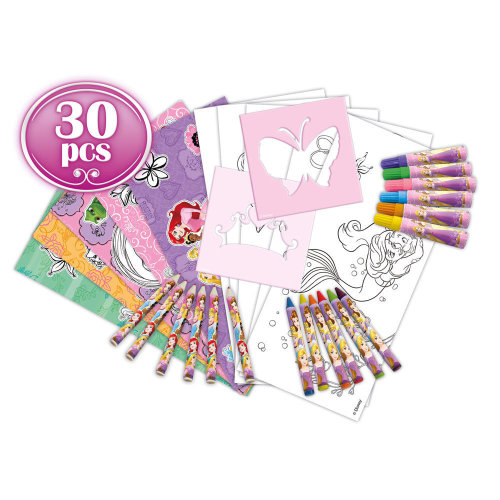 DISNEY Princess My Creative Trolley with 30pcs Creative Accessories Set, Purple/Pink