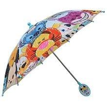 Disney Tsum Tsum Allover Print Light Blue Umbrella with 3D Handle- Blue