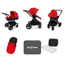 Ickle Bubba Stomp V3 All in One - Red on Black Frame
