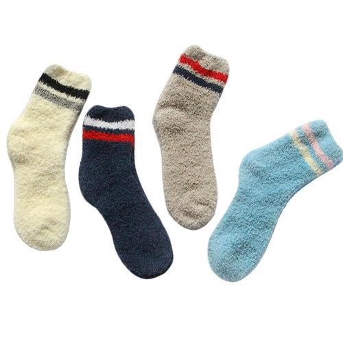 4 Pairs Soft Fuzzy Sleeping Socks Slipper Socks Winter Casual Floor Socks