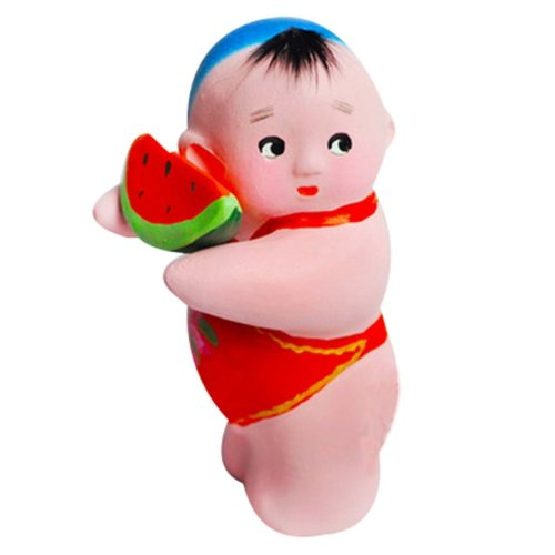 2 Pcs Cute Decoration Creative Chinese Clay Doll Clay Clay Sculpture