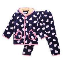 Children Pajamas Warm Thick Cotton Winter Suit Modern Set Sleepwear/Nightwear Clothes for Home, D7