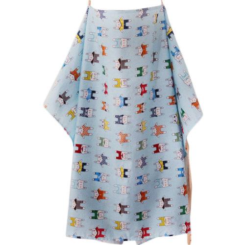 Utility Breast Feeding Nursing Cover with Neck Brace,Rabbit Blue