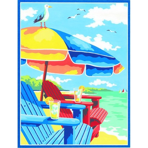 "Dpw91528 - Paintsworks Learn to Paint 9"" X 12""- at the Beach"