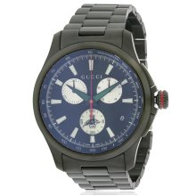Gucci G-Timeless Black Stainless Steel Chronograph Mens Watch YA126268