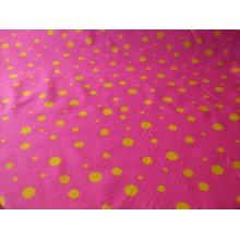 "Funky Spot Poly Cotton Fabric by the metre - 44"" / 112cm Wide - Fluorescent Pink / Yellow"
