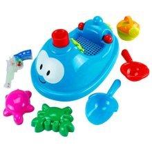 7 Pieces Sand-excavating Beach Kids' Sand Toys Children's Seaside Toys Set(Blue)