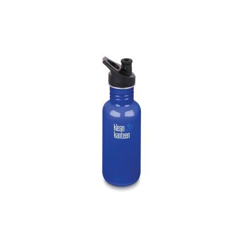 Klean Kanteen 532ml Water Bottle with Sport Cap (Coastal Waters)