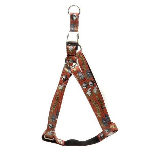 10mm x 260-400mm Red Pirate Dog Harness - Envy 1x2640cm -  dog envy pirate harness red 1x2640cm