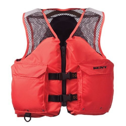 Kent Mesh Deluxe Commercial Life Vest - Persons over 90-Pounds. (Orange, Medium, 36-40-Inch Chest)