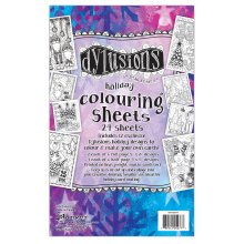 """Dyan Reaveley's Dylusions Colouring Sheets 5""""X8""""-Holiday"""
