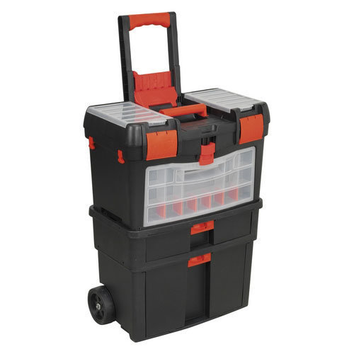 Sealey AP850 Mobile Tool Chest with Tote Tray & Removable Storage Box